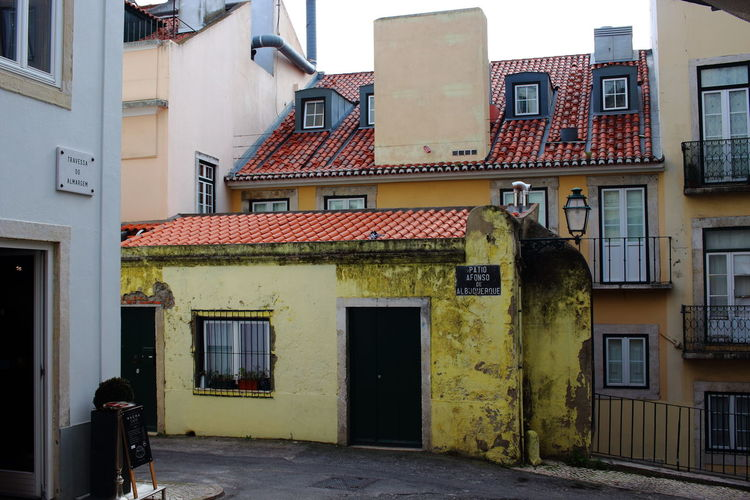 Streets Of Lisbon EyeEm City Photography Lissabon, Portugal Lisbon - Portugal Lisbon Alfama Alfama In Lisbon Architecture Building Exterior Built Structure Building Residential District Window City House Day No People Outdoors Entrance Door Old Street Roof Town Nature Roof Tile