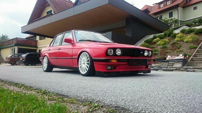 Car Red Motor Vehicle Bmw E30