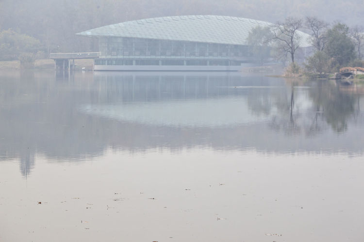 Foggy view in the early morning Architecture Autumn Beauty In Nature Building Exterios Built Structure Day Fall Fog Foggy Foggy Morning Lake Lake View Lakeside Nature No People Outdoors Reflection The Early Morning Tranquility Tree Water Waterfront Foggy View In The Early Morning