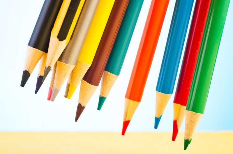 colourful pencils over beautiful reverberation gradient background Multi Colored Pencil Variation Choice Colored Pencil Writing Instrument Art And Craft Still Life Close-up No People White Background Creativity Side By Side Indoors  Studio Shot Large Group Of Objects High Angle View Craft Sharp Variety Art And Craft Equipment