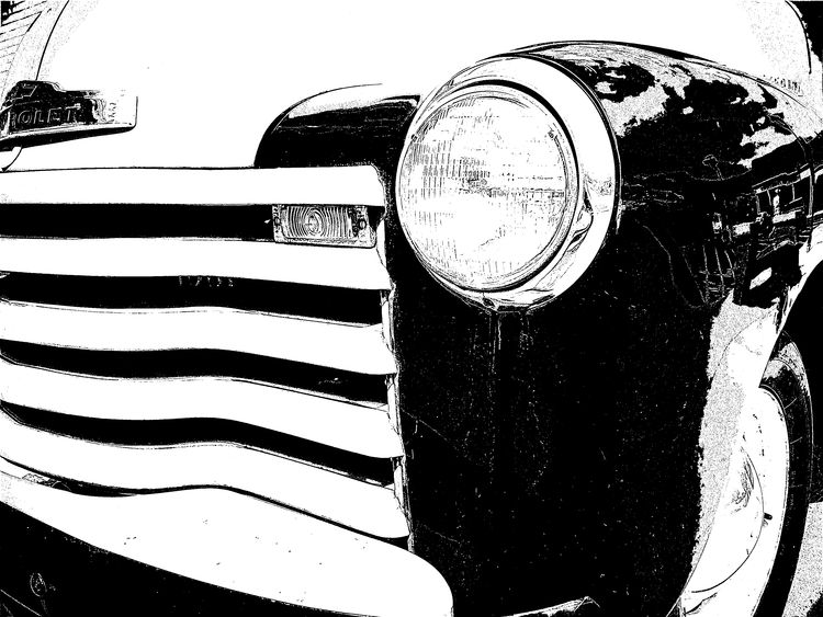 sketchy chevy Blackandwhite Blackandwhite Photography Chevrolet Chevy Chevy Truck Iphone6 IPhoneography Sketch