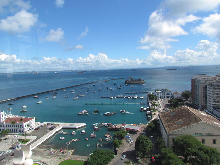 Sea High Angle View Water City Aerial View Sky Horizon Over Water Sunlight Nautical Vessel Cloud - Sky Outdoors Beach Cityscape Architecture Day No People Swimming Pool Urban Skyline The City Light First Eyeem Photo Salvador Brasil Pelourinhosalvador Elevador Lacerda EyeEm Gallery Salvador Bahia