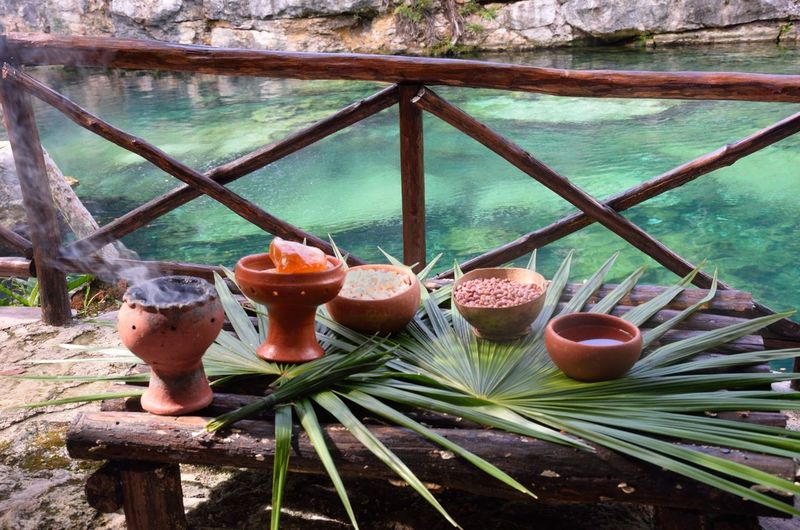 Blessing Ceremic Ceremonial Drink Faith Food Food And Drink Leaves Mayan Pagan Pots Shamen Table