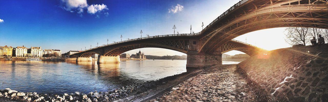 Bridge Margitsziget Sunset Seeing The Sights