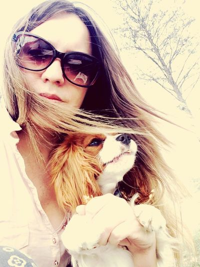 Me & my cavi Fluffy Cavlife Cavalier King Charles Spaniel Trakai Cute Pets Ilovemydog Hanging Out