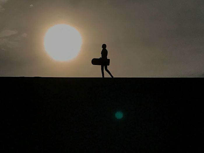 Girl Silhouette Nature One Person Landscape Real People Standing Sunset Outdoors Full Length Sky Beauty In Nature Men Day EyeEmNewHere EyeEmNewHere