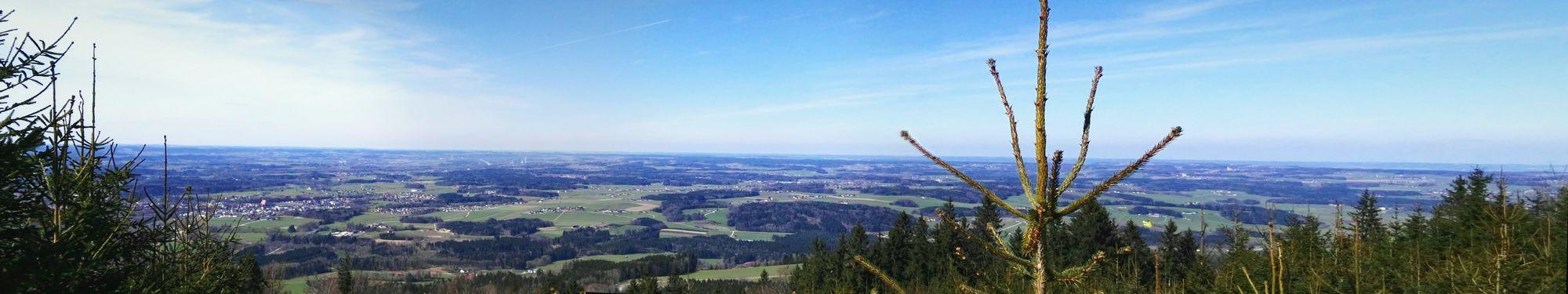 Aussicht vom Haunsberg aus überragend Oberndorf Bei Salzburg Bürmoos Lamprechtshausen Arnsdorf Flachgau Cityscape Sky Landscape