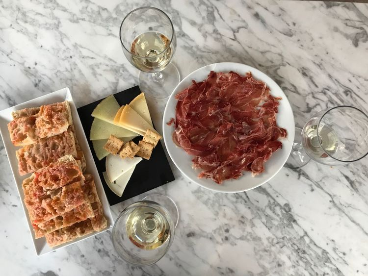 Drinking Glass Alcohol Drink Food And Drink High Angle View Table Food No People Wine Indoors  Wineglass Plate Freshness Close-up Liqueur Prosciutto Day Ready-to-eat