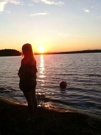 Tb Summer Sunset Taking Photos Landscape Lake Enjoying Life Creative Light And Shadow