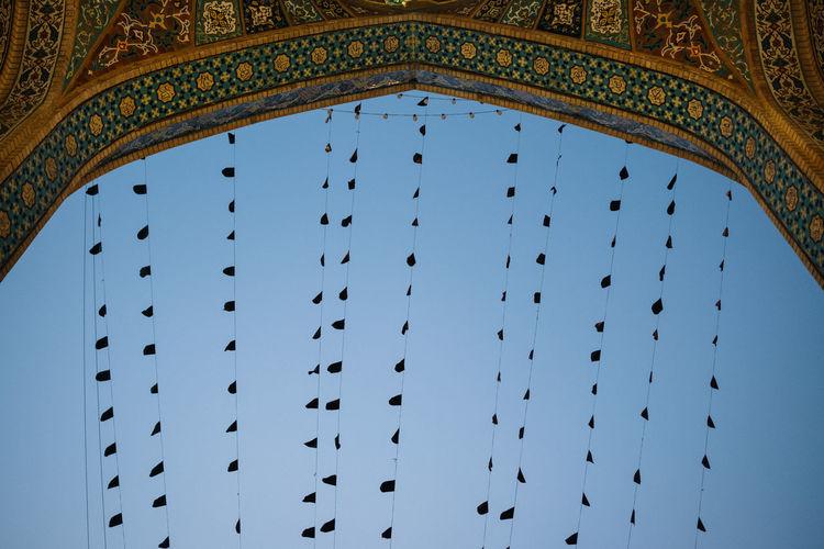 see the sky Place Of Worship Qom Sacred Places Safavid Shrine Arch Belief Blessings Blue Burial Place Fatima Masumeh Shrine Iran Irantravel Islam Low Angle View Mosque Muslim Persia Pilgrimage Prayer Religion Saint Shia Sky Travel Destinations