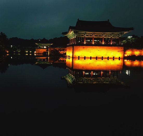 Southkorea Temple Water Reflections