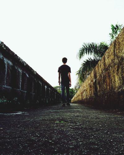 One Person Day Outdoors People Adults Only One Man Only Eyeem Philippines Leading Lines Intramuros,manila