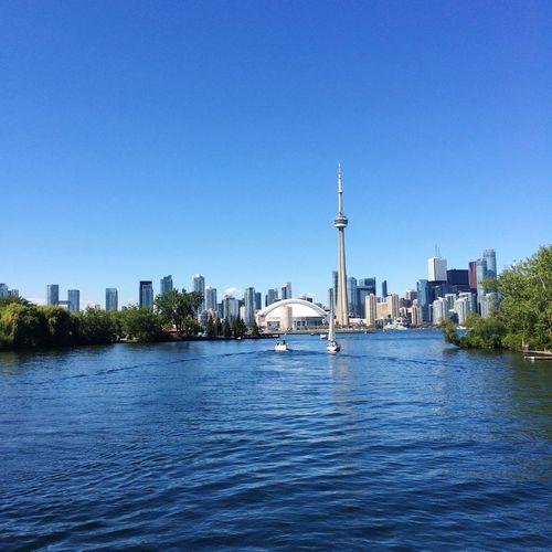 Toronto Cntower Skyline Lakeontario