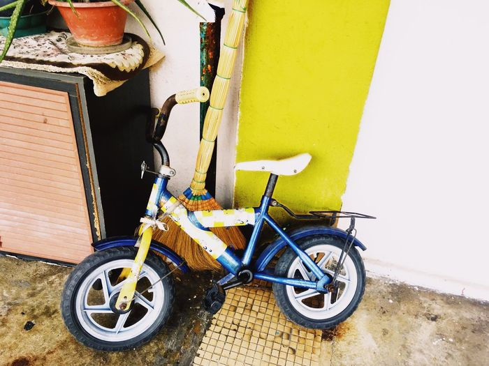 Bicycle Land Vehicle Yellow No People Mode Of Transport Bicycle Kid's Toys Kid Vibrant Color