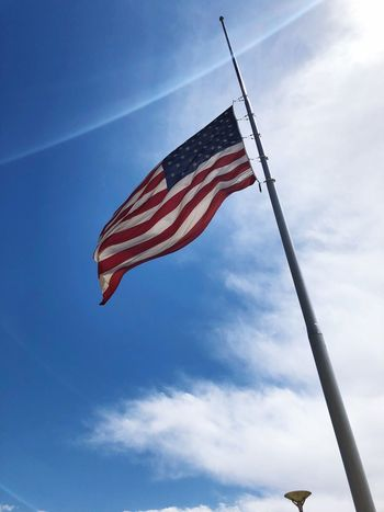 Sky Low Angle View Cloud - Sky Flag Patriotism Day Nature Independence Outdoors Pole Freedom Pride National Icon #FREIHEITBERLIN