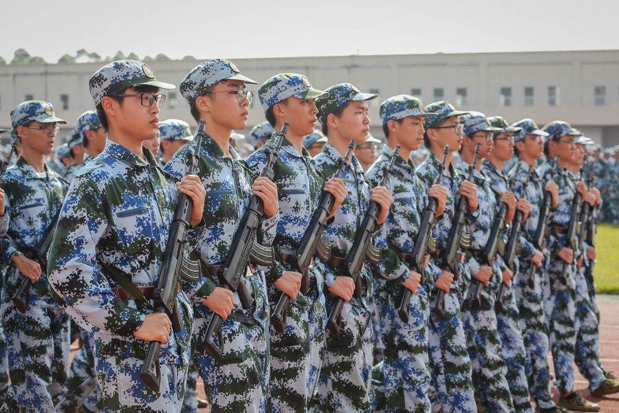 EyeEm Selects Military Uniform In A Row Guangzhou University Life University Student First Eyeem Photo