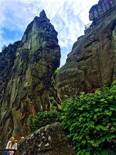 Externsteine Horn-Bad Meinberg Mountain Nature Beauty In Nature Sky Scenics Rock Formation Rock - Object Low Angle View Tranquility Geology Physical Geography No People Day Outdoors Cloud - Sky NRW