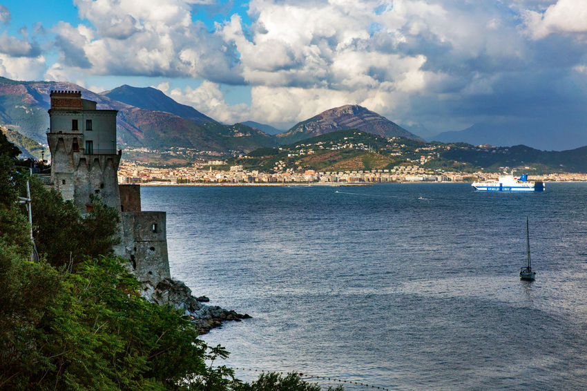 Amalfi Coast Architecture Beauty In Nature Building Exterior Built Structure Cloud - Sky Day Italy Mountain Mountain Range Nature No People Outdoors Scenics Sea Sky Tranquility Water