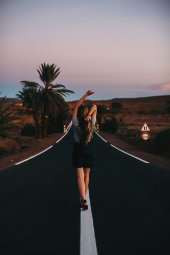 Morocco Morocco 🇲🇦 MoroccoTrip Adult Arms Raised Casual Clothing Clothing Full Length Hairstyle Human Arm Leisure Activity Lifestyles Nature One Person Plant Real People Rear View Road Shorts Sky Standing Transportation Women Young Adult Young Women EyeEmNewHere