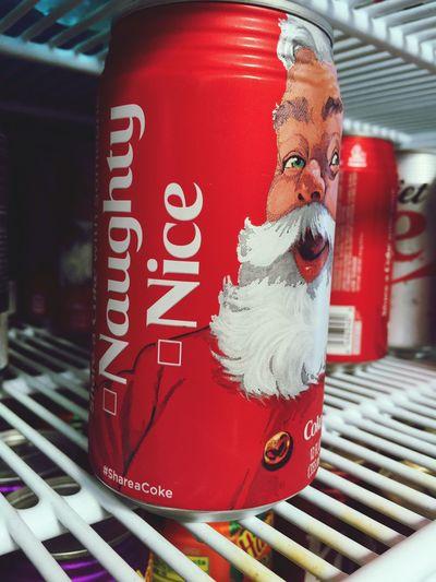 Can I be both? 😝 Naugty Nice Christmas2015 Santa Coke Fun Humour Shareacoke ShareaCoke🍺