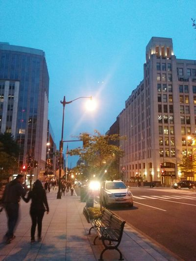 Architecture Clear Sky After The Rain Outdoor Photography Outdoors Building Exterior Building Lights washington, d. c. Streetphotography Street Life Carlights
