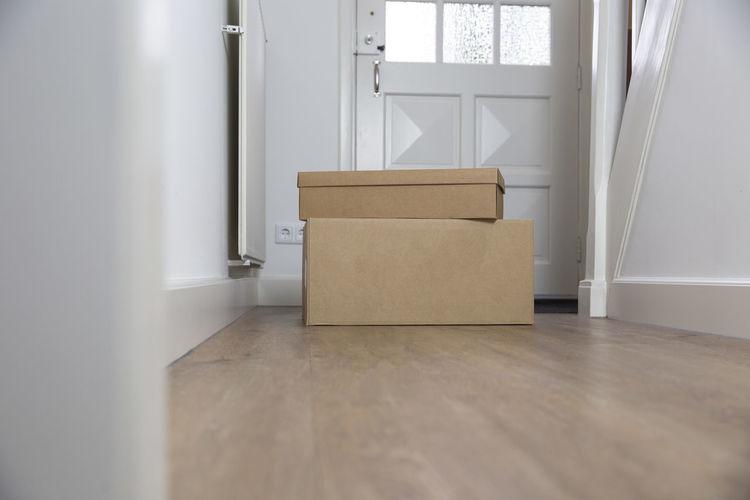 View of empty room with open door