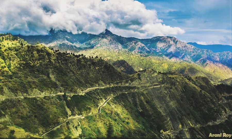 Hills, Mountains, Sky, Clouds, Sun, River, Limpid, Blue, Earth Nature Beauty In Nature Landscape Outdoors Green Color Scenics Cloud - Sky Road