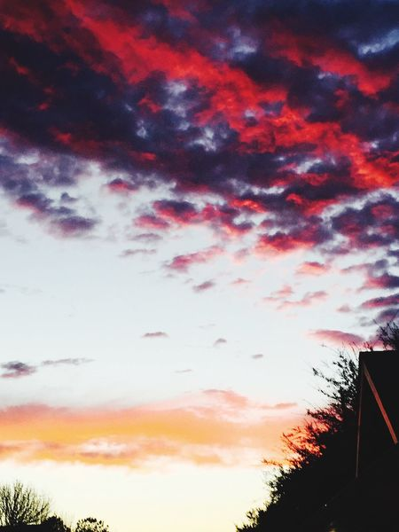 Natures Colors Sky Cloud - Sky Sunset Silhouette Nature Low Angle View No People Scenics Beauty In Nature Day