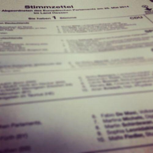 Wahldienst als Schriftführer zur Europawahl. Ep2014 SonntagUmDieOhrenHauen