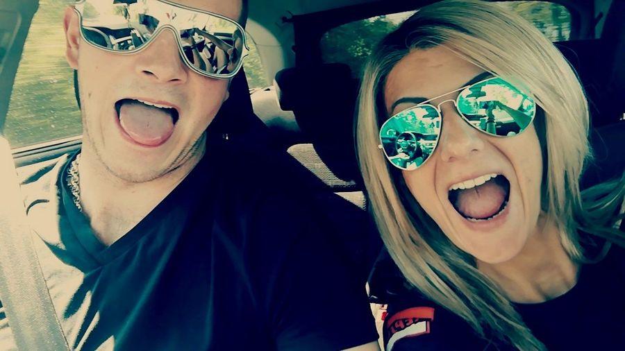 Bolondozás!!! 😍💓❤️ Blond Hair Boy&girl Selfie ✌ Happyday Crazy Carselfie Blacktop Crazyselfie  Man Women