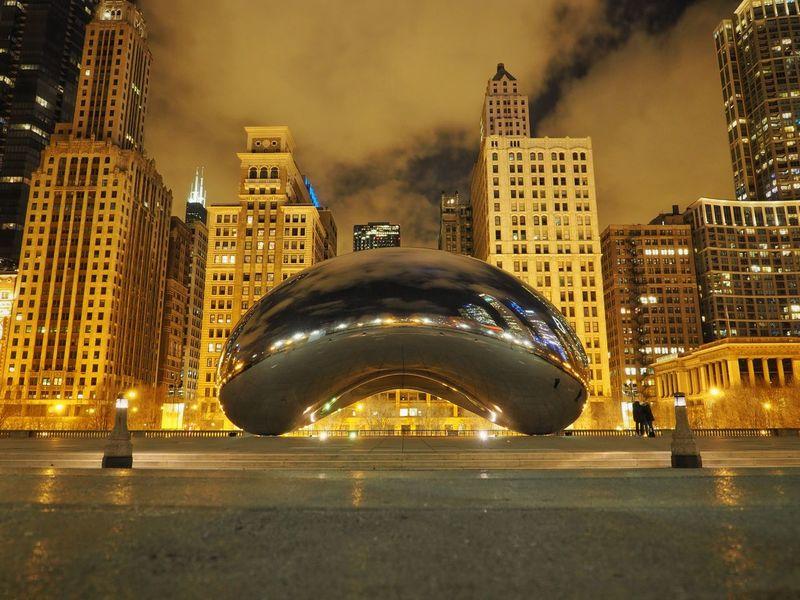 Windycity Chicago Bean Architecture Nightphotography Architecture