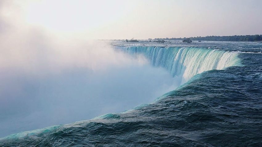 Sony XZ EyeEm Selects Niagra Falls Water Waterfall Fog Sea Long Exposure Motion Power In Nature Sky Horizon Over Water Landscape Flowing Water Stream Falling Water Natural Landmark Rapid