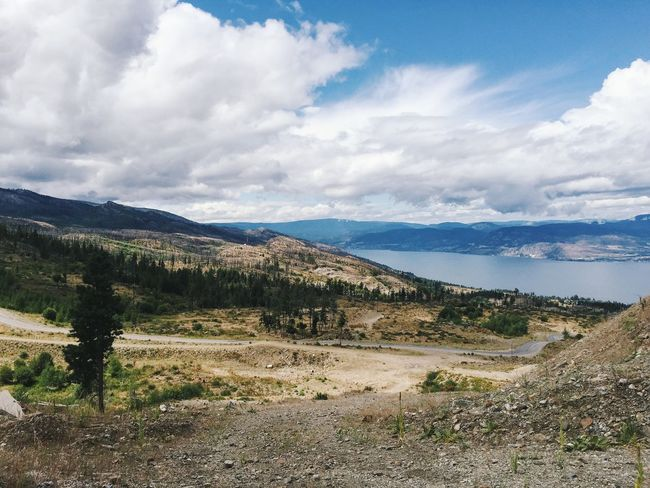 A view from the mountain Beauty In Nature Countryside Kelowna Landscape Mountain Nature Outdoors Scenics Sea Tranquil Scene View