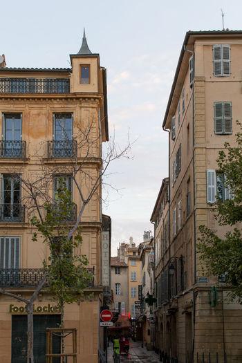 Exterior of residential buildings against sky