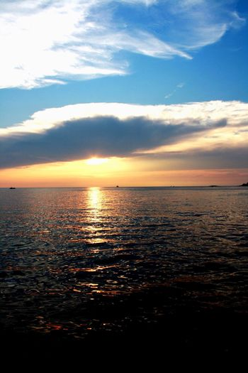 Sea Sky Water Beauty In Nature Nature Scenics Sunset Tranquility Tranquil Scene Horizon Over Water Cloud - Sky No People Outdoors Day Croatia Sparkle Tranquility EyeEm Nature Lover Nature Nature_collection Cloud Clouds And Sky Sun Water Reflections Nature Photography