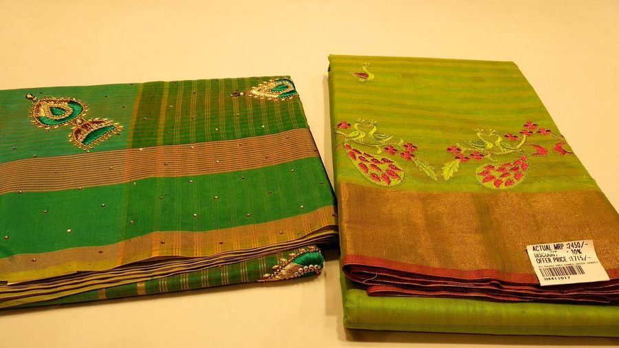 Indian Culture  Indian Wear Saree Beauty Indian Traditional Dress Collection India Multi Colored Close-up Handmade Textile