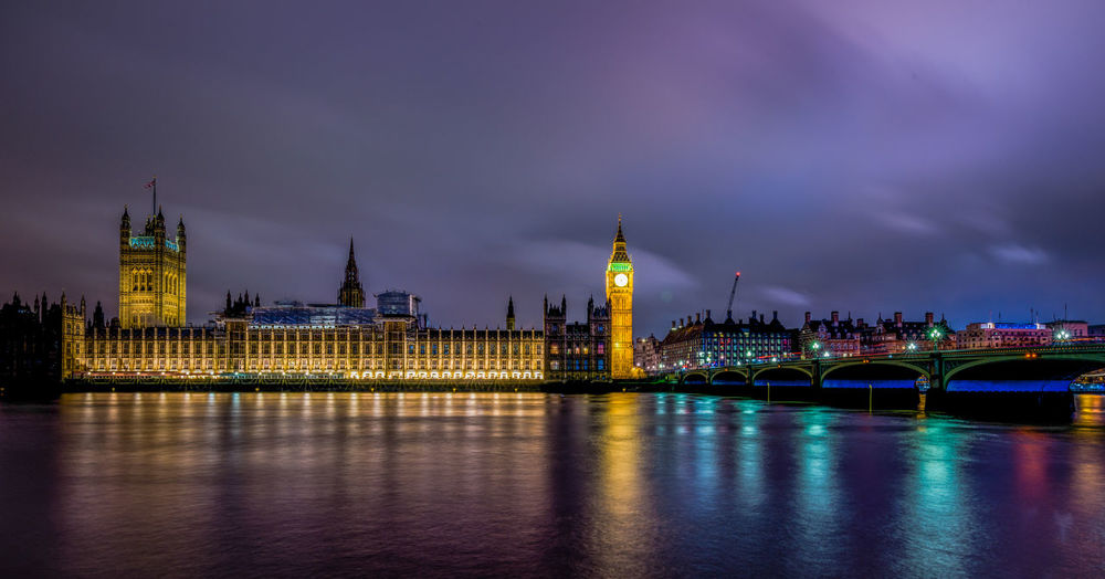 Palace of westminister, London, UK England, UK London Nightphotography Palace Of Westminster Westminister Bridge  Architecture Bridge - Man Made Structure Building Exterior Built Structure City Clock Tower Cloud - Sky Government Illuminated Night No People Outdoors Parliament River Sky Travel Destinations Water Waterfront