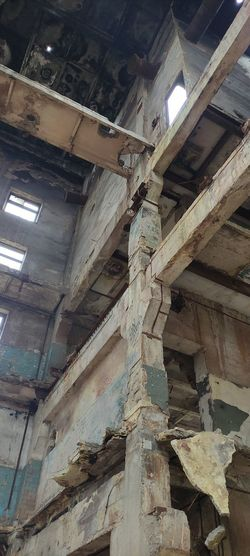 Low angle view of abandoned building