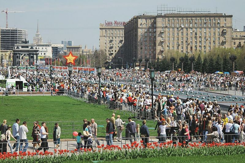 People And Places Moscow Dayofvictory Victory Day Togetherness Large Group Of People