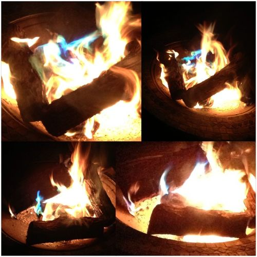 Blue And Green Fire