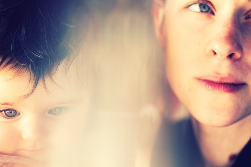 mother and baby Mother Refraction Refractions In Light Portrait Real People Headshot Child Close-up Childhood Capture Tomorrow Indoors  Human Face Young Baby Looking Away Cute Innocence The Portraitist - 2019 EyeEm Awards