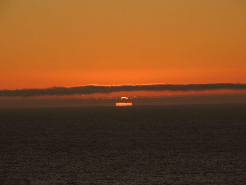 Sundown...♥ Another Beautiful Sunset 🌅 Sunset And Sea Orange Sky Sunset Photography Sunset And Clouds  Sunset_captures Enjoying The Sunset Sun Through The Clouds Horizon Over Sea Dark Clouds Reñaca Beach , Chile