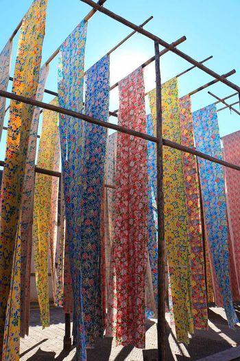古北水镇 染坊 Dyehouse Dyeworks Dyed Cloth Dyedclothdyed Fabric Colorful Fabric Bright Colors Bright Sunshine Miyun Beijing