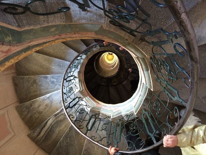 Architecture Built Structure Hand Rail High Angle View Indoors  Railing Spiral Spiral Staircase Spiral Stairs Staircase Stairs Steps Steps And Staircases