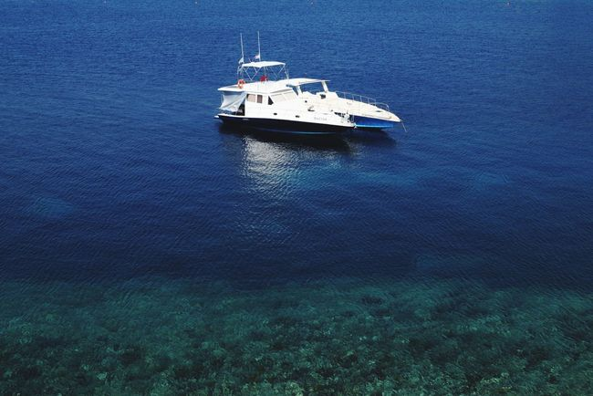 Nautical Vessel Transportation Mode Of Transport High Angle View Day Outdoors Nature Water No People