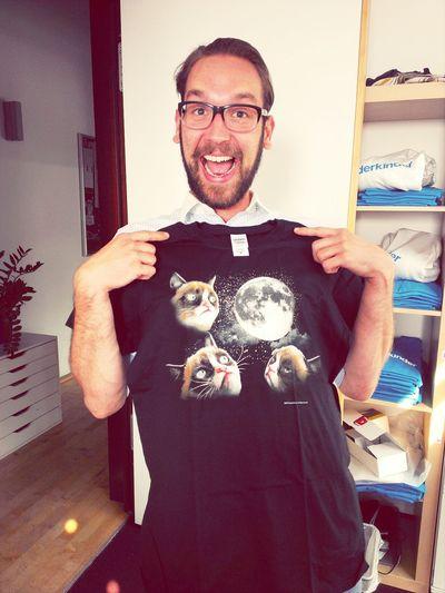 Jan In A Cat t-shirt