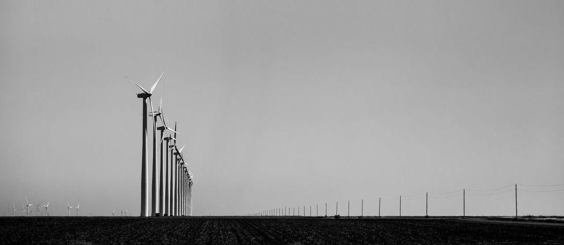 Dodge City Kansas Alternative Energy Field Industrial Windmill Montezuma Wind Power Wind Turbine