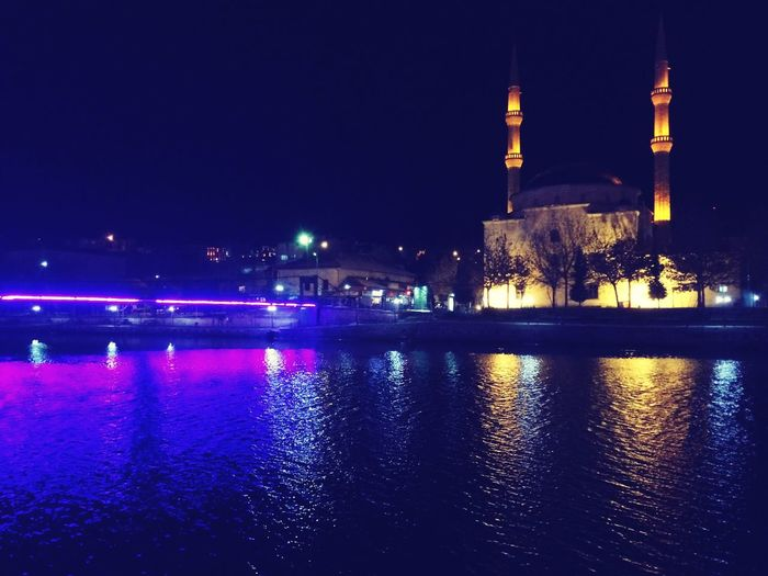 Mosque and river