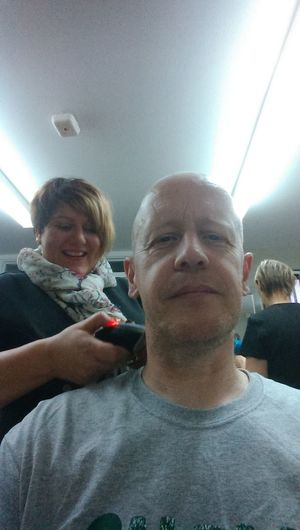 That's Me after head complete shave. Fight For Cancer Macmillan trust For My Mother.