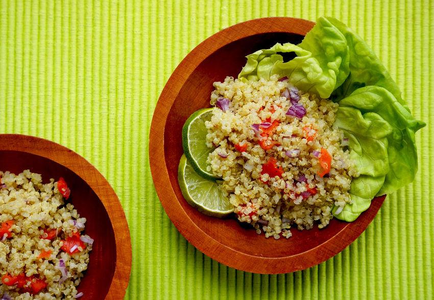Colorful Contrast Food Green Healthy Healthy Eating Healthy Food Quinoa Salad Salad Summer Top Perspective